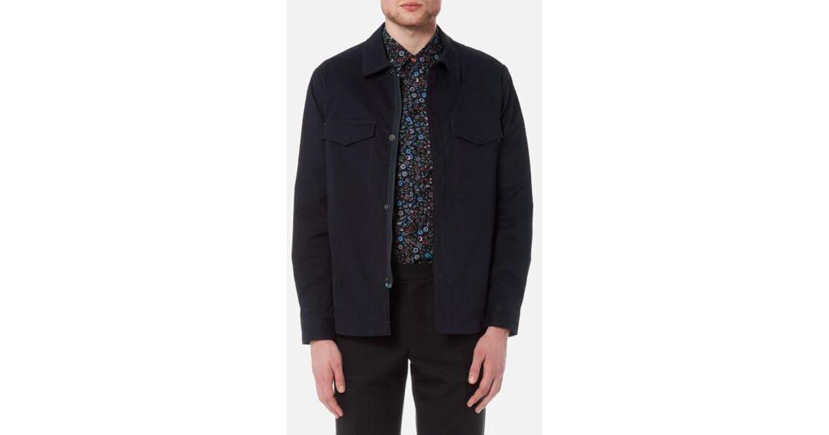 9a94e22191dac PS by Paul Smith Men's Unlined Jacket in Blue for Men - Lyst