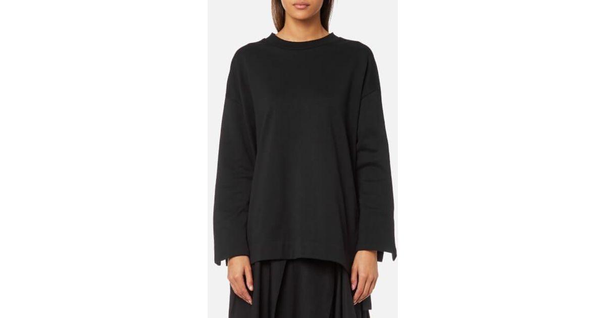 Lyst - Y-3 Y3 Women s Bold Stripe Sweatshirt in Black d5cdb9374