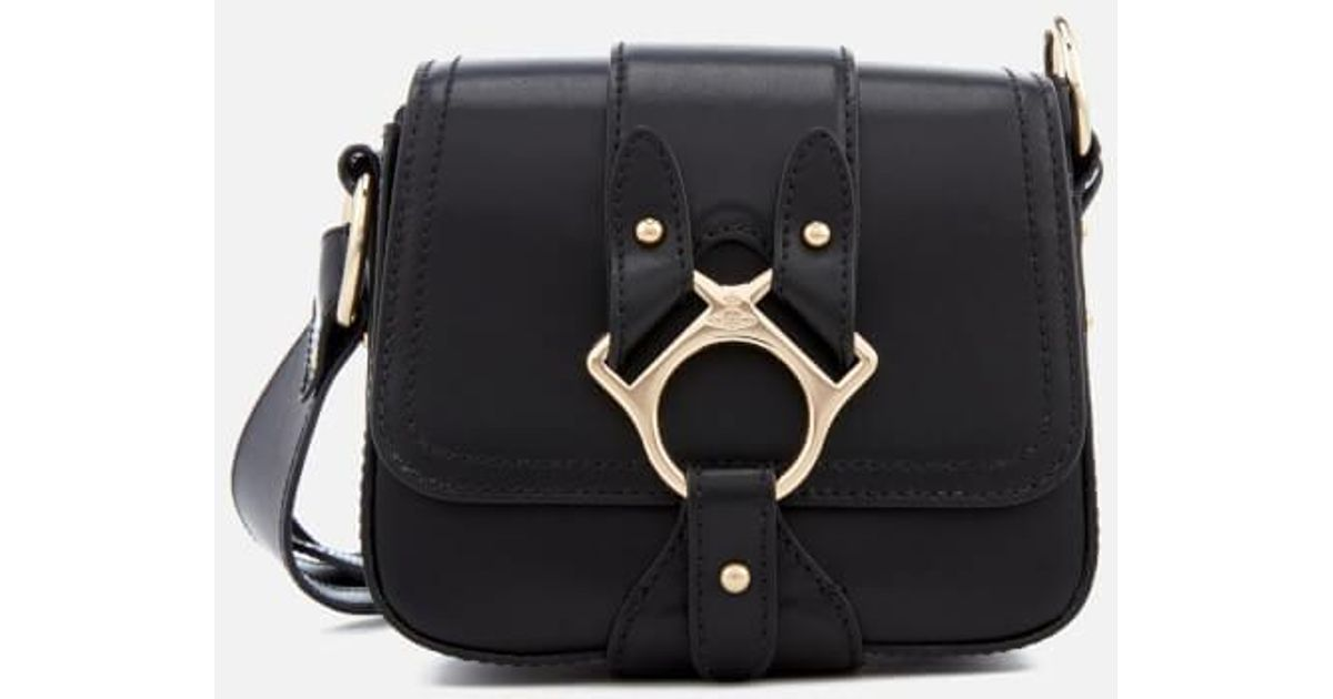 2bd6fdee72 Vivienne Westwood - Black Folly Small Saddle Bag - Lyst