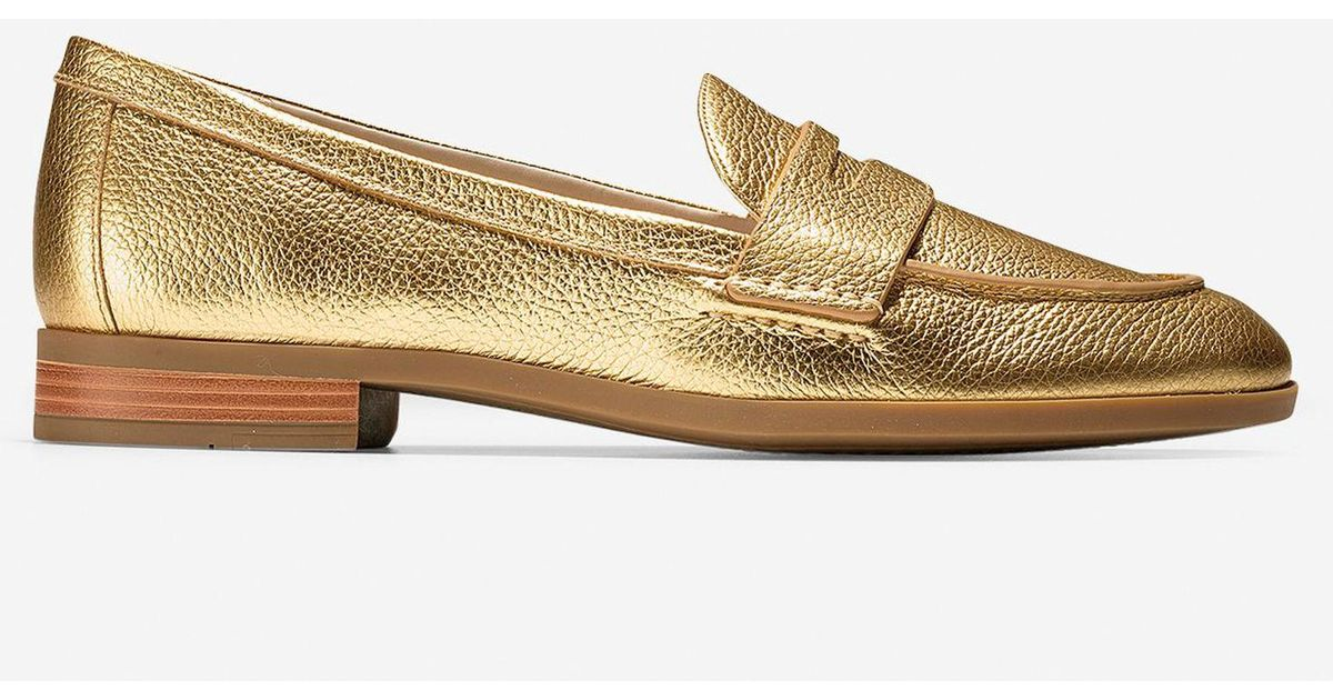 f2b82e195b16 Cole Haan Women s Pinch Grand Penny Loafer in Metallic - Lyst