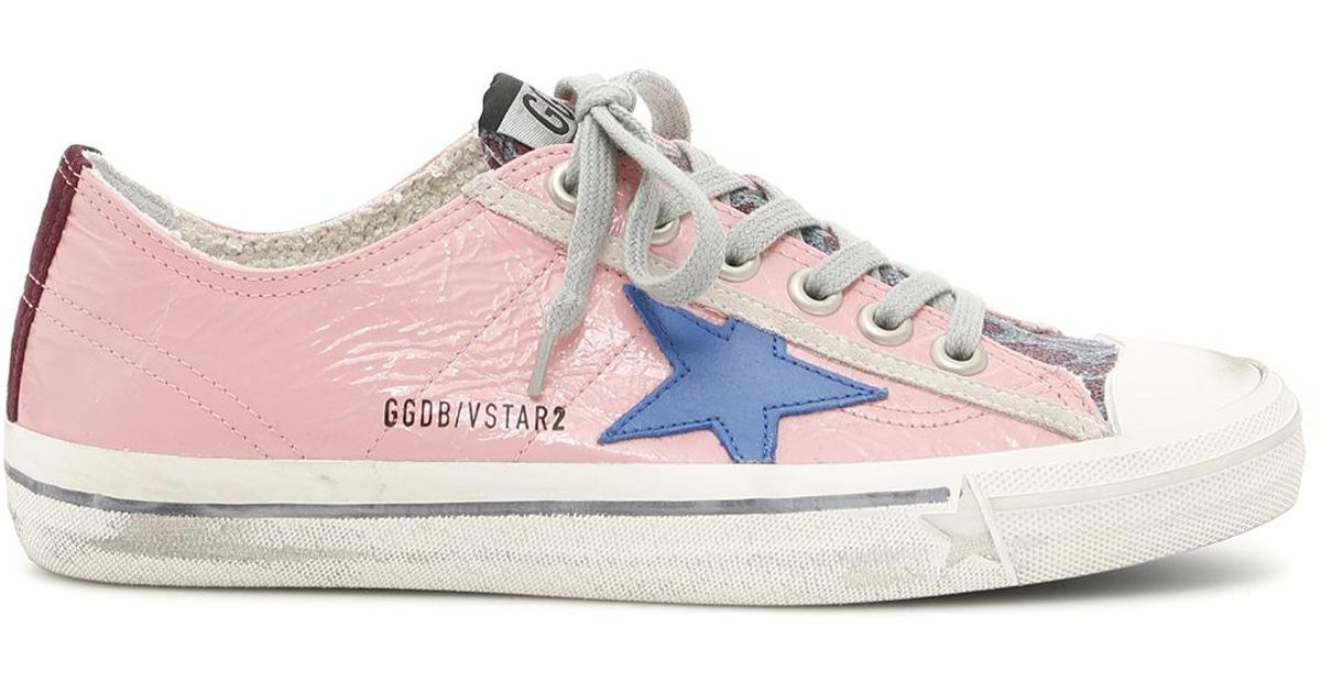 941ac049e02 Lyst - Golden Goose Deluxe Brand V-star 2 Sneakers in Pink