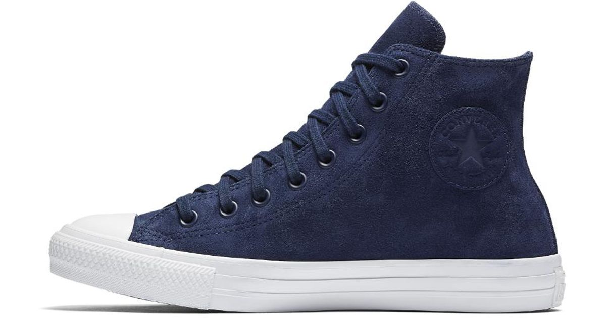 52b1ff38c6c Lyst - Converse Chuck Taylor All Star Water Resistant Suede High Top Shoe  in Blue for Men