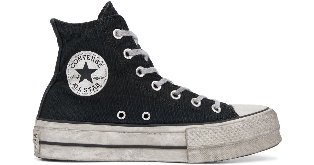 88b143806e Converse Chuck Taylor All Star Lift Smoked Canvas High Top in Black for Men  - Lyst