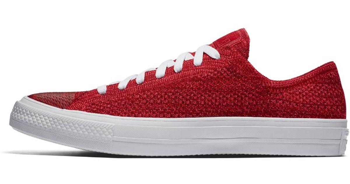 268fd2a95a07 Lyst - Converse Chuck Taylor All Star X Nike Flyknit Low Top Men s Shoe in  Red for Men