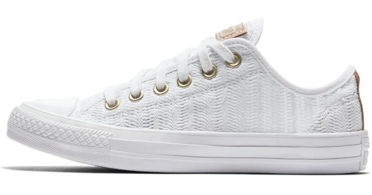 Lyst - Converse Chuck Taylor All Star Herringbone Mesh Low Top Women s Shoe  in White ede499f4fc46