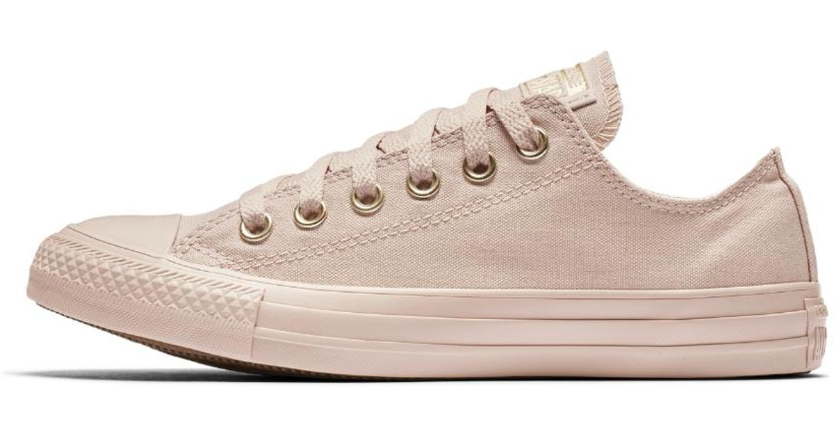 12f153760f8b Lyst - Converse Chuck Taylor All Star Mono Glam Low Top Women s Shoe in  Brown