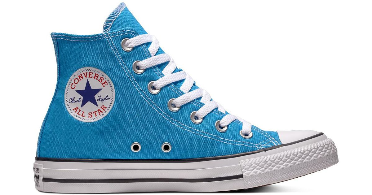 04c0222885e Converse Chuck Taylor All Star Seasonal Color High Top in Blue - Lyst