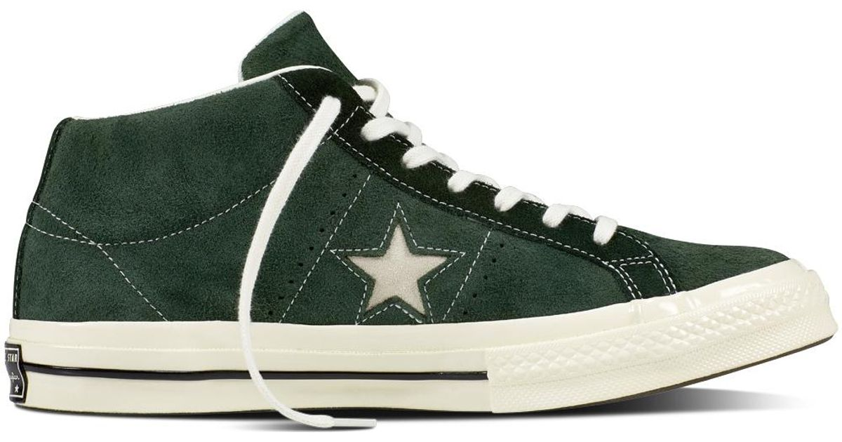 1ccd12e084d3 Converse One Star Mid Vintage Suede in Green for Men - Lyst