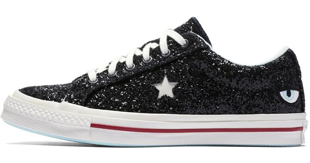 96a594c9b4ba Lyst - Converse X Chiara Ferragni One Star Low Top Women s Shoe in Black