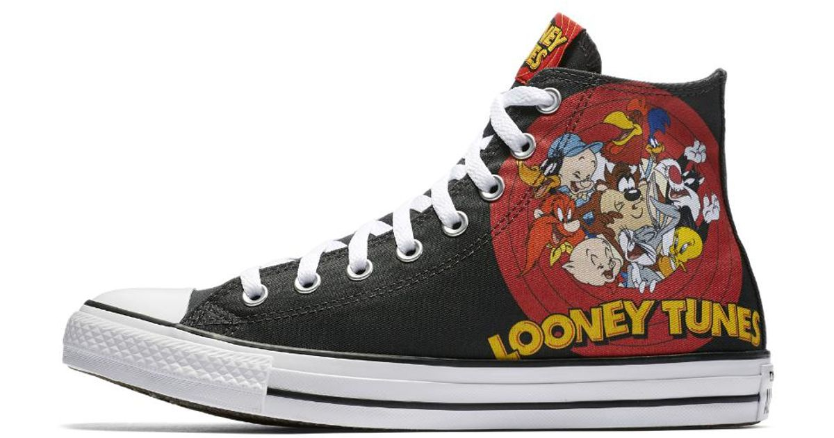 c6af1beb8183 Lyst - Converse Chuck Taylor All Star Looney Tunes High Top Shoe in Black  for Men