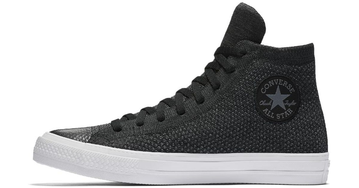 Lyst - Converse Chuck Taylor All Star X Nike Flyknit High Top Shoe in Black  for Men 352b19a3b447
