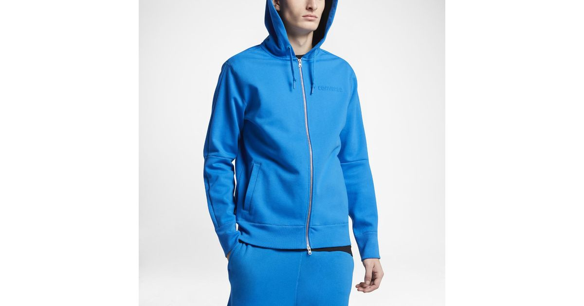 6686d2fd9893 Lyst - Converse Counter Climate Men s Full Zip Hoodie in Blue for Men