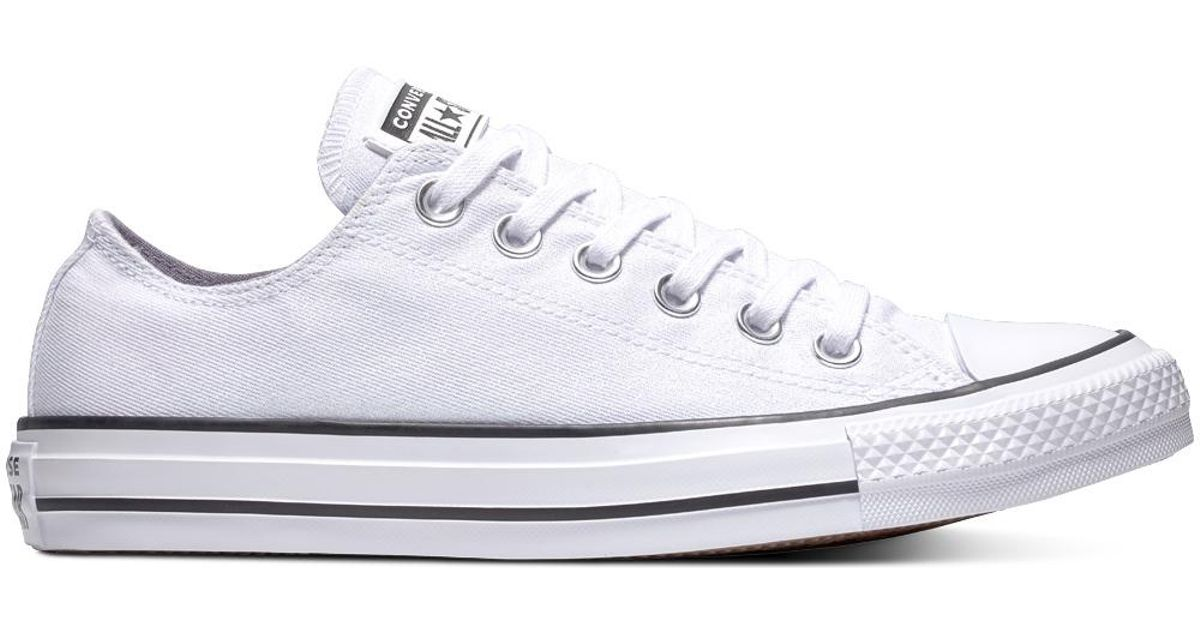 4ebd072c581 Converse Chuck Taylor All Star Precious Metals Textile Low Top in White for  Men - Lyst