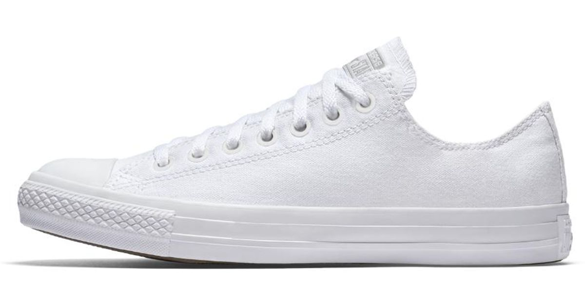 Lyst - Converse Chuck Taylor Monochrome Low Top Shoe in White 4ccec9a3a