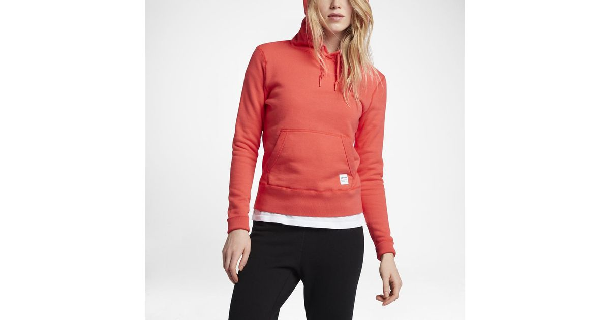 e71f2c63c764 Lyst - Converse Essentials Sportswear Pullover Women s Hoodie in Red