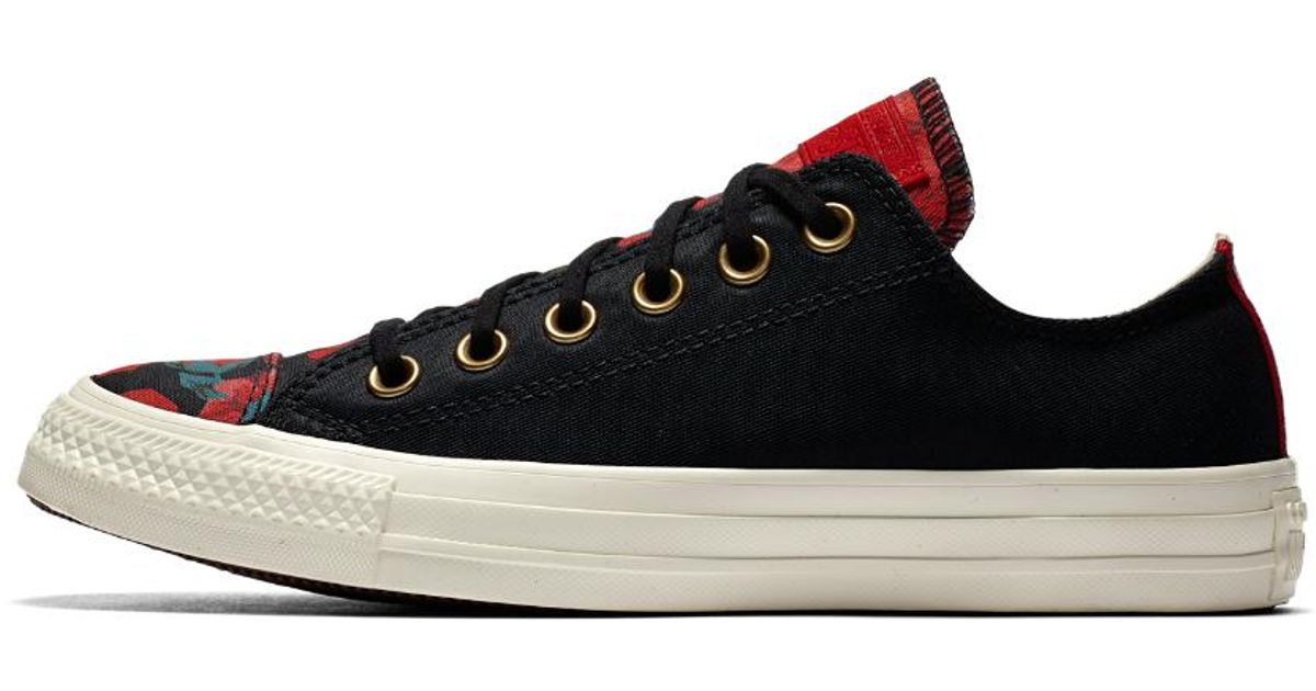 febae7388e1ad2 Lyst - Converse Chuck Taylor All Star Parkway Floral Low Top Women s Shoe  in Black