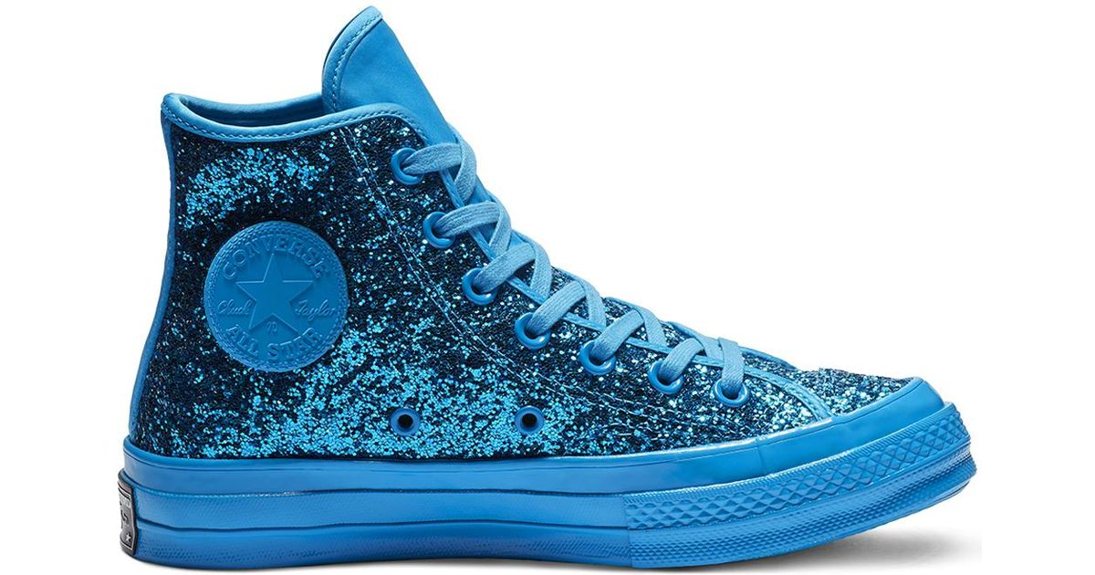 3826120e220 Converse Chuck 70 After Party Glitter High Top in Blue for Men - Lyst