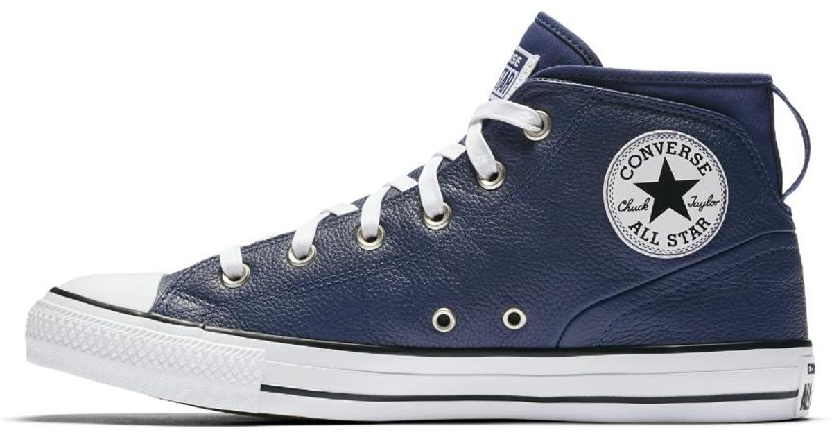 Lyst - Converse Chuck Taylor All Star Syde Street Leather High Top Men s  Shoe in Blue for Men d9cf1c52a