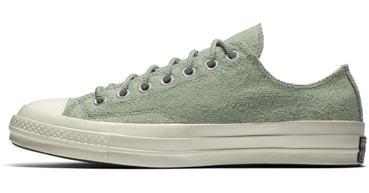 a7a26bb3542 Lyst - Converse Chuck 70 Reverse Terry Low Top Men s Shoe in Green for Men