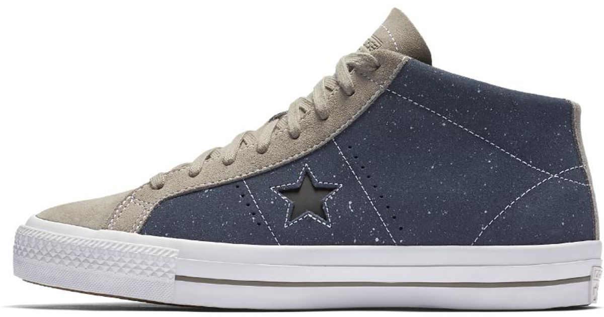 5cd11bb615c810 Lyst - Converse Cons One Star Pro Speckled Suede Mid Top Skateboarding Shoe  in Blue for Men
