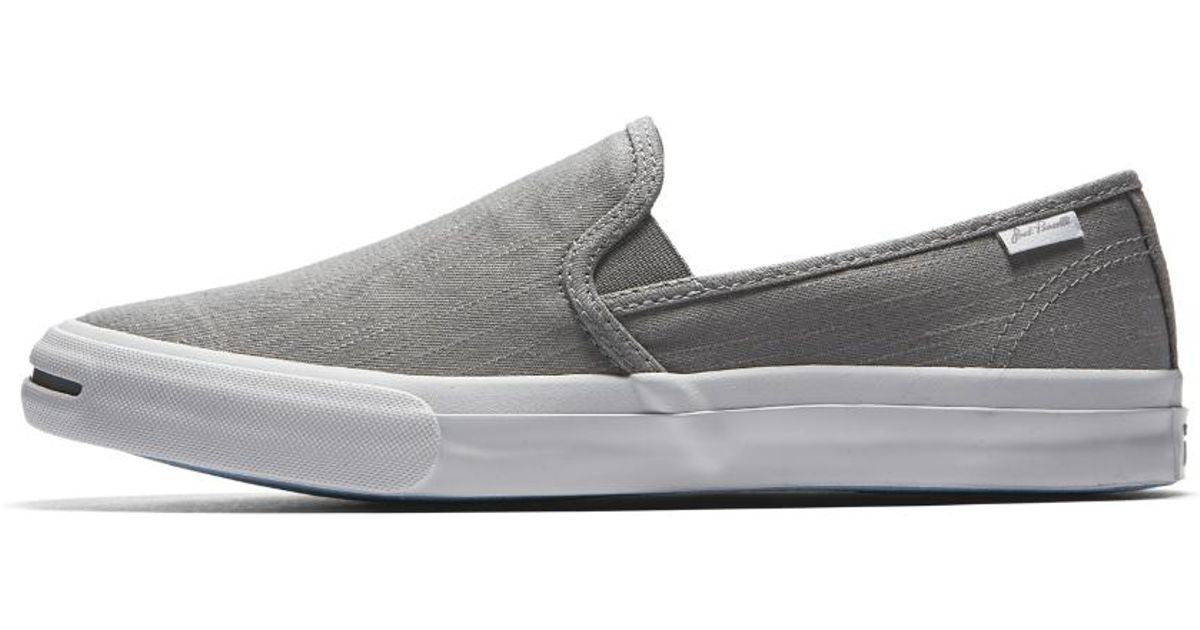 c986d8d715a4 Lyst - Converse Jack Purcell Low Profile Low Top Slip in Gray