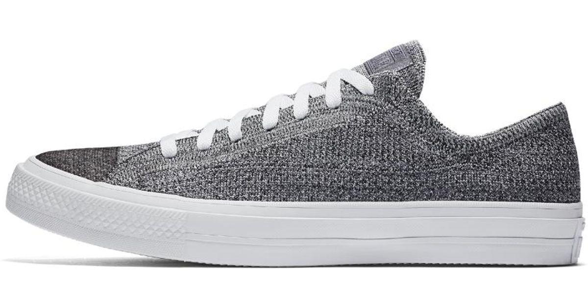 d3257a4fe3c Lyst - Converse Chuck Taylor All Star X Nike Flyknit Low Top Men s Shoe in  Black for Men