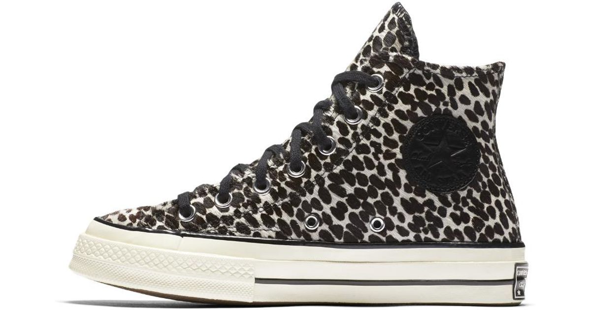 2f9133dfd393 Converse Chuck 70 Pony Hair High Top Women's Shoe in Black - Lyst