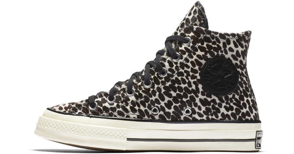 0d9b4577b1c Lyst - Converse Chuck 70 Pony Hair High Top Women s Shoe in Black