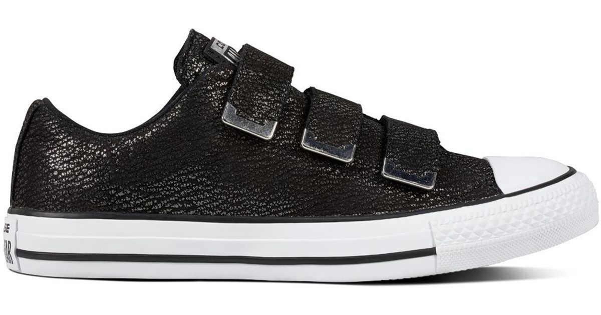 b8655594fe80 Converse Chuck Taylor All Star Nubuck Tipped Metallic + Hardware in Black -  Lyst