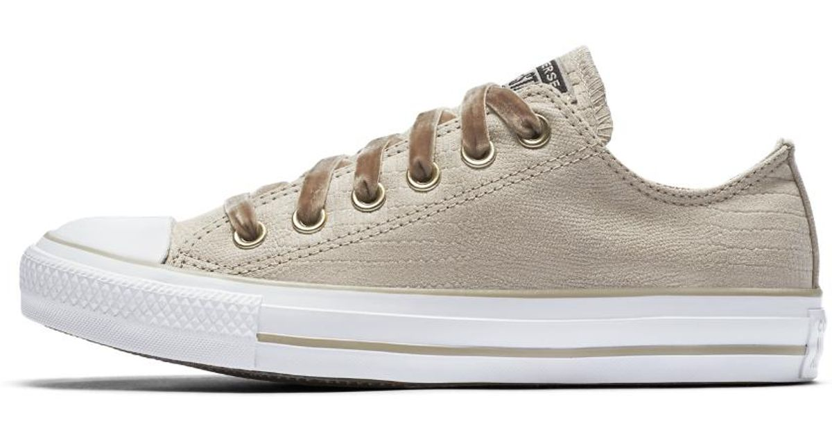 Lyst - Converse Chuck Taylor All Star Gator Glam Low Top Women s Shoe in  Brown 8438668ae0