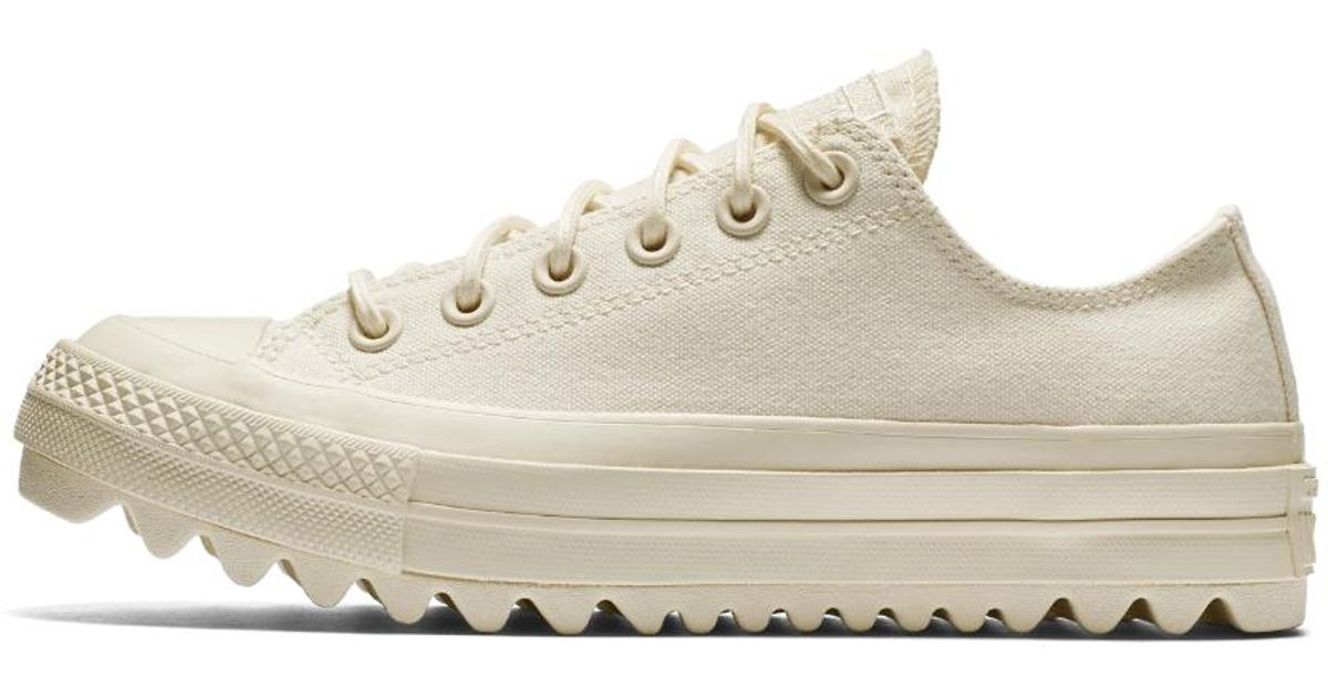 f5ba55b4503f13 Lyst - Converse Chuck Taylor All Star Lift Ripple Canvas Low Top Women s  Shoe in Natural