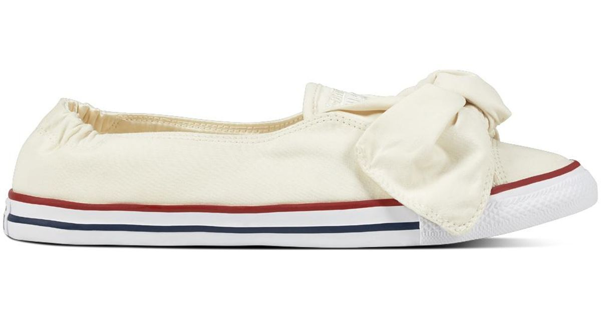 2dd679645bc Converse Chuck Taylor All Star Knot Brushed Twill in White - Lyst