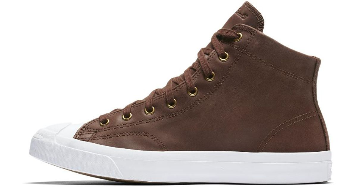 2c97dae241a Lyst - Converse Jack Purcell Mid Boot Leather High Top Men s Shoe in Brown  for Men