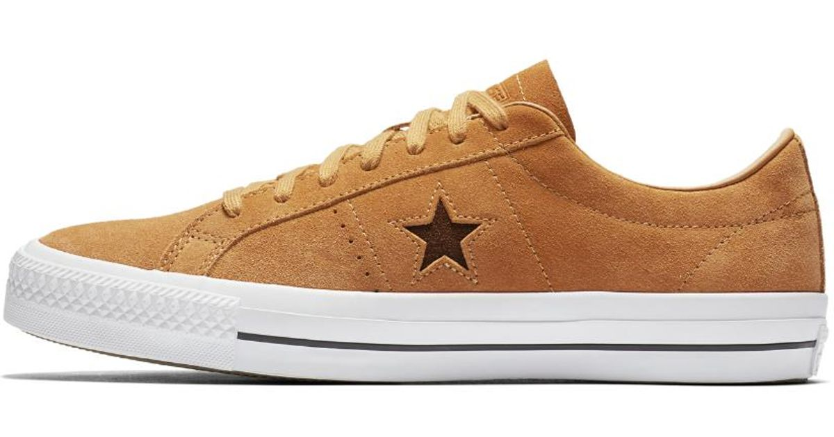 8754ee375e00 Lyst - Converse One Star Pro Oiled Suede Low Top Men s Skateboarding Shoe  in Brown for Men