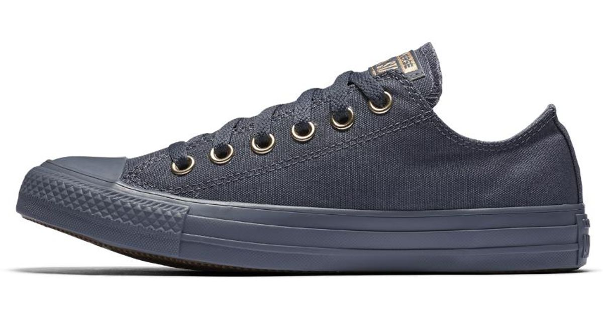 40767f7cc098 Lyst - Converse Chuck Taylor All Star Mono Glam Low Top Women s Shoe in  Purple