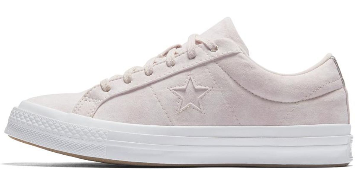 Lyst - Converse One Star Peached Wash Low Top Women s Shoe in White 6ddc0eb4f