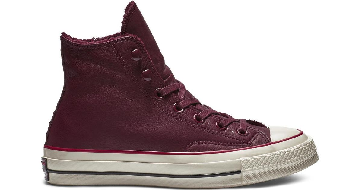 5bd4ee7b42cf Converse Chuck 70 Street Warmer Leather High Top in Red for Men - Save 69%  - Lyst