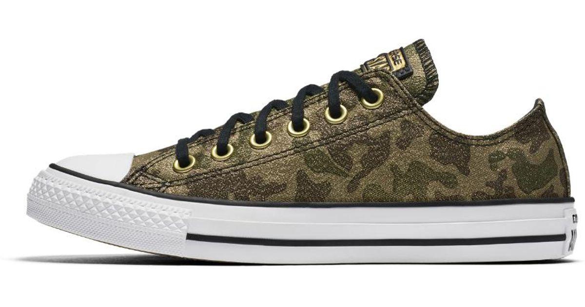 Lyst - Converse Chuck Taylor All Star Lurex Camo Low Top Women s Shoe in  Green 8dcdf2c13