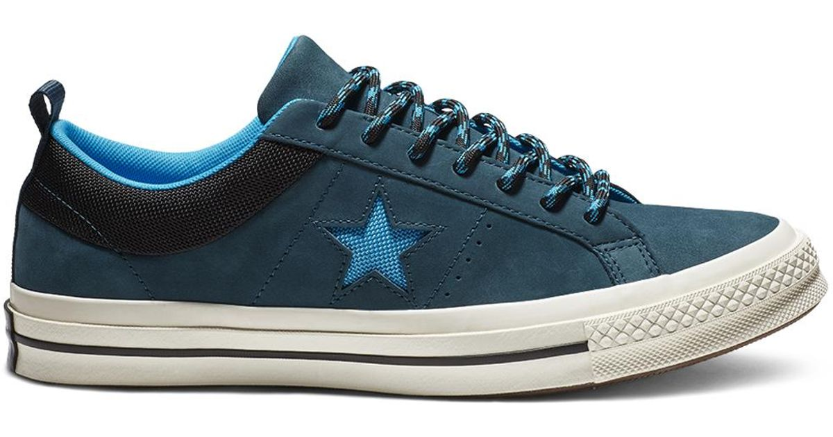 Converse One Star Sierra Leather Low Top in Blue for Men - Lyst 4e66aea61