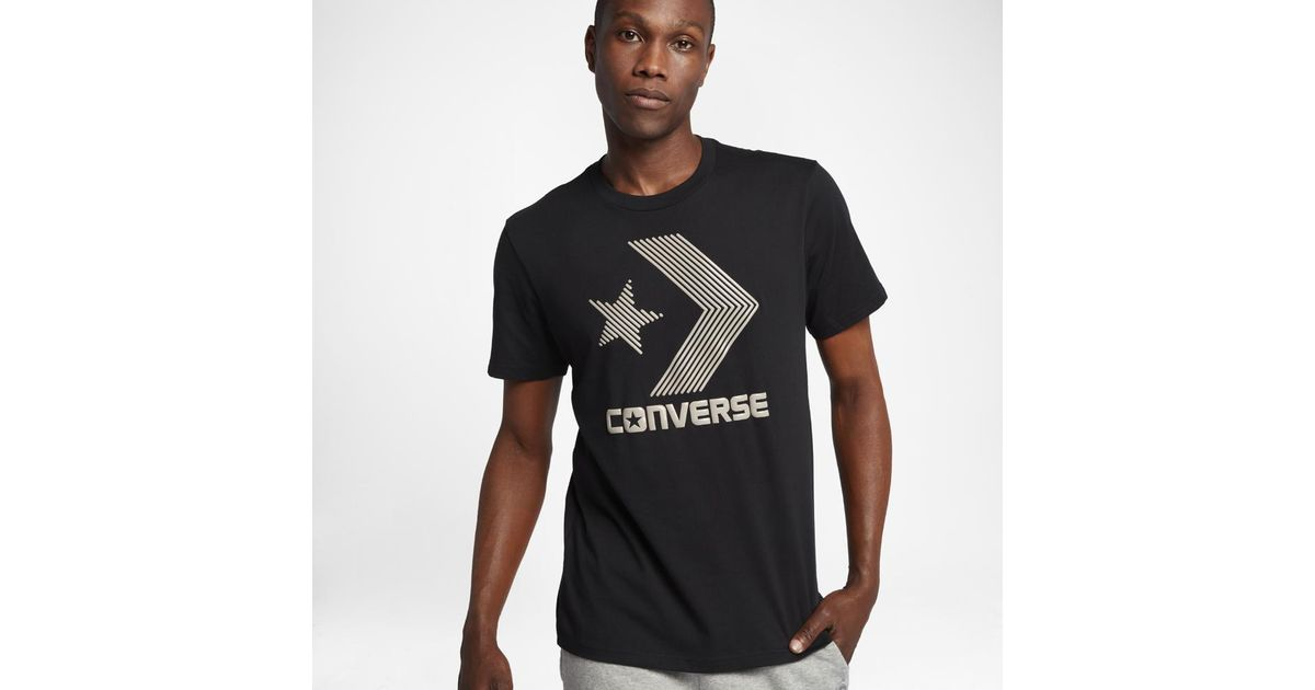 42d168dabba5 Lyst - Converse Line Fill Star Chevron Men s T-shirt in Black for Men