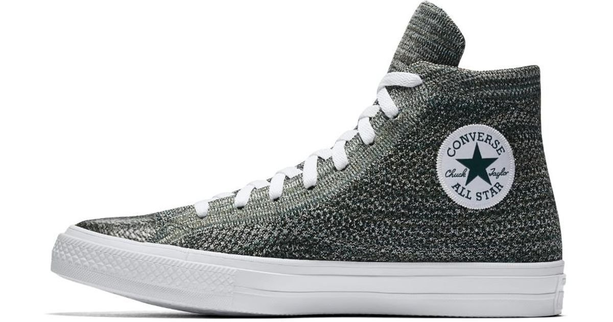 be85496153e4 Lyst - Converse Chuck Taylor All Star X Nike Flyknit High Top Shoe in Green  for Men