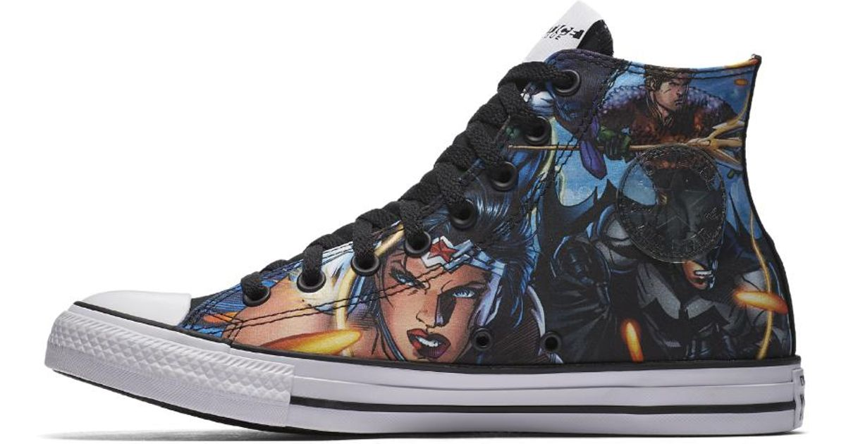 2cf2bd0f925a Lyst - Converse Chuck Taylor All Star Dc Comics Justice League High Top  Shoe in Blue for Men