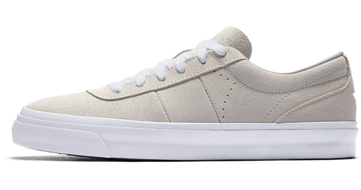 Lyst - Converse One Star Cc Pro Platinum Suede Low Top Men s Skateboarding  Shoe in White cd956a269