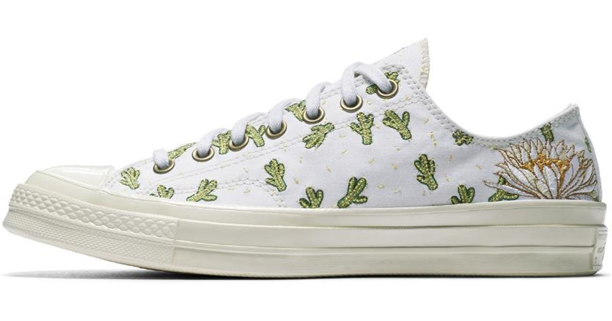 3cfb19bc97f253 Lyst - Converse Chuck 70 Prep Embroidery Low Top Shoe in White