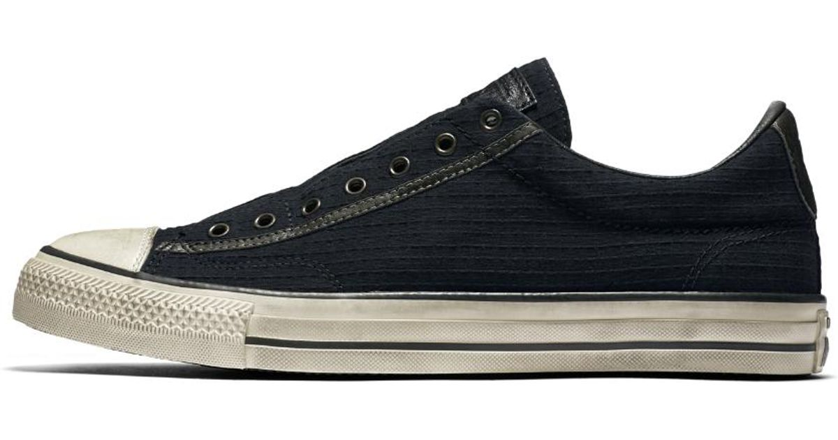 aab27e0dcb8f Lyst - Converse X John Varvatos Chuck Taylor All Star Vintage Seersucker Low  Top Men s Slip-on Shoe in Black for Men