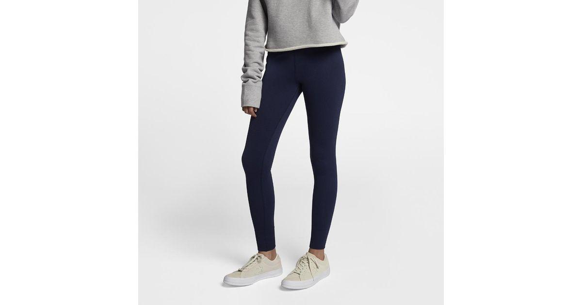 47af384c3cf6 Lyst - Converse Engineered Jacquard Women s Leggings in Blue