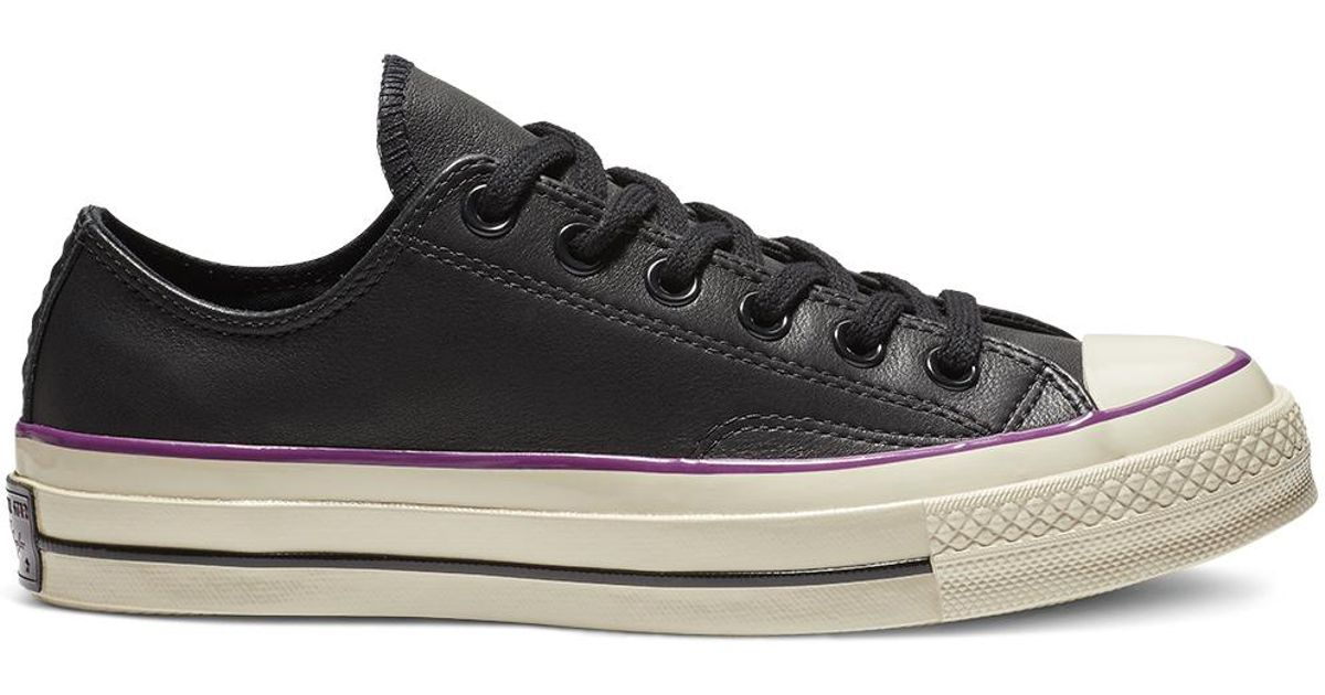 Converse Chuck 70 Seasonal Leather Colour Low Top in Black for Men - Lyst db709ace6