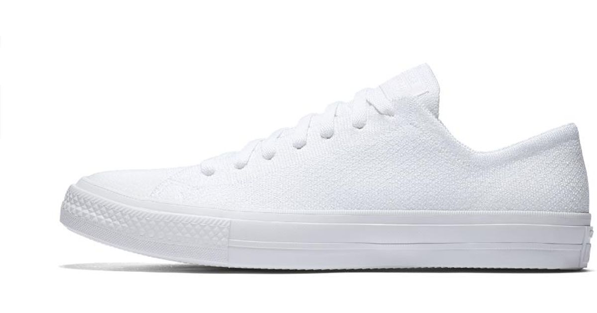09c862a53325 Lyst - Converse Chuck Taylor All Star X Nike Flyknit Low Top Men s Shoe in  White for Men