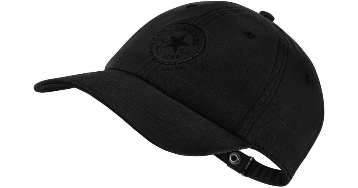 5a4b42c1e191 Lyst - Converse Monotone Core Adjustable Hat (black) in Black for Men