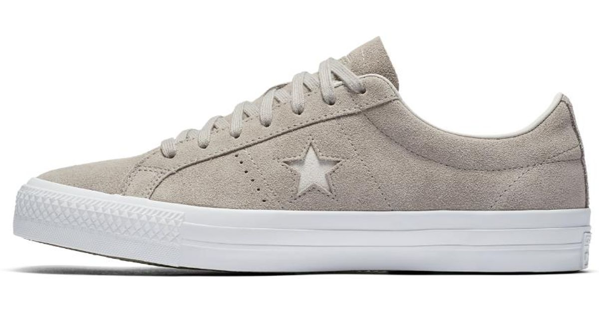 Lyst - Converse One Star Pro Suede Men s Skateboarding Shoe in White for Men 64a382bf8